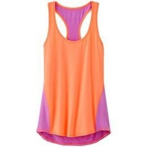 Athleta pink and purple workout top size small